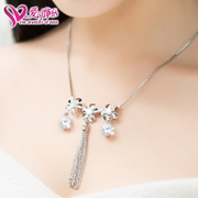 Love is jewelry three depth 16 new jewelry necklace chain nickel plated inlaid zircon-free short box hot sale