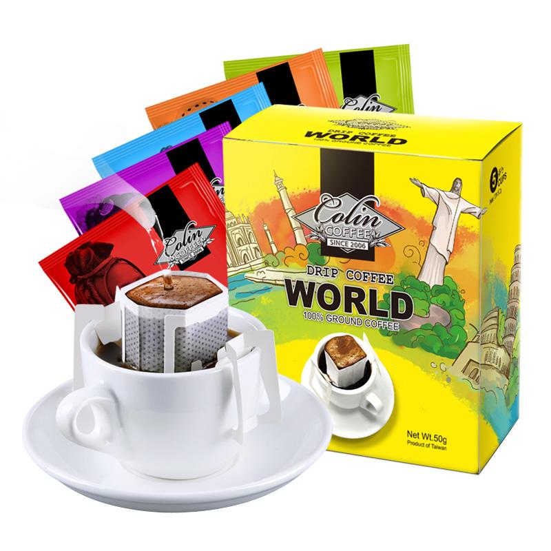柯林 環遊世界 咖啡豆研磨咖啡粉掛耳咖啡 5包裝
