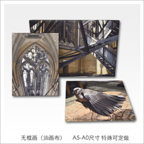 tockus custom frameless painting canvas frame photography high-end UV Print Exhibition Exhibition output