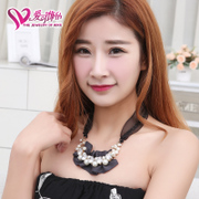 Love ornaments, 16 new Pearl CZ necklace fashion jewelry girls fashion necklaces hang shorter clothes chain