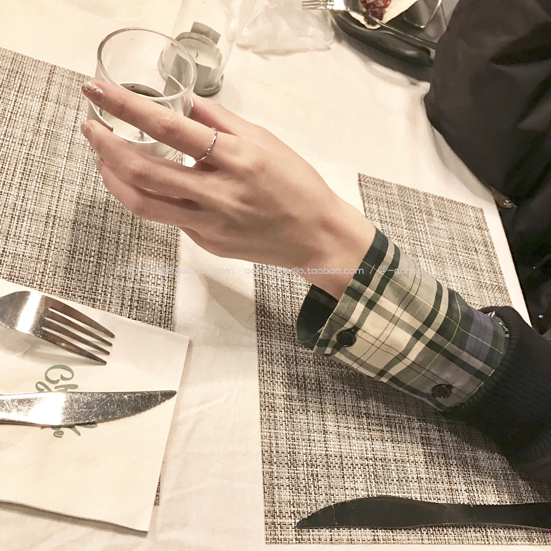 ACHOO / 人手一只极简细戒指迷你锆石戒指百搭纯银不褪色