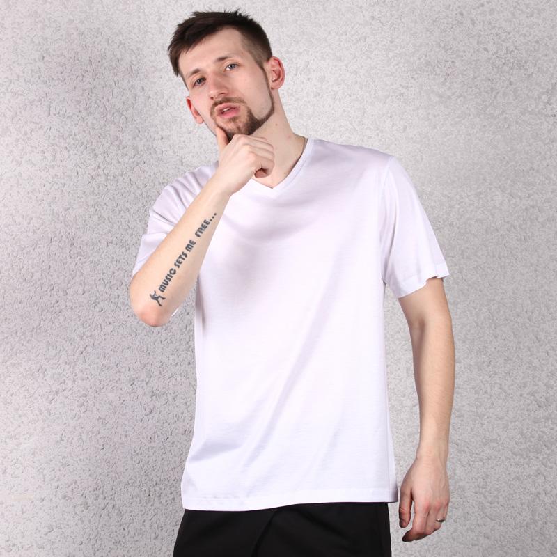 限10000张券天然体夏季新款叠位莫代尔男士薄短袖半袖T恤莱赛尔棉8189