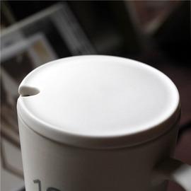 亚光马克杯盖 陶瓷杯盖子创意圆形牛奶挖孔杯盖直径8 9cm定制包邮图片