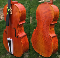 High-grade all-hand natural tiger skin grain imported European materials handmade cello Professional examination stage with cello