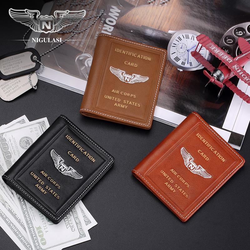 卡包男士美国飞行员迷你卡套真皮驾驶证皮套防消磁纯皮驾照夹