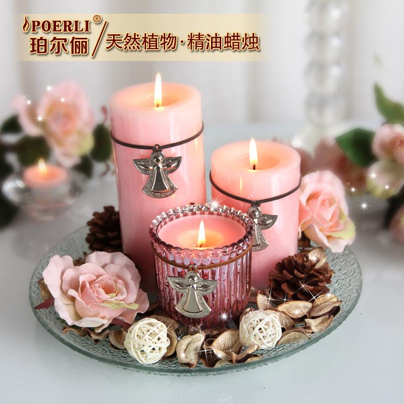 Романтический импорт масло ароматерапия свеча роуз установите подарок нет дым свеча свадьба духи свеча бесплатная доставка
