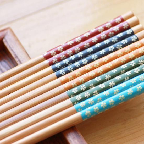 日式筷子 可爱 和风 四季梦彩 宋青窑 纯手工彩绘 梅花筷子