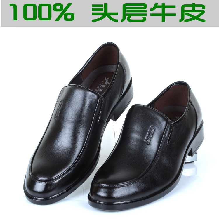 Genuine leather flat heel suit business mens leather upper layer cowhide spring and autumn low top shoes 2016 NEW