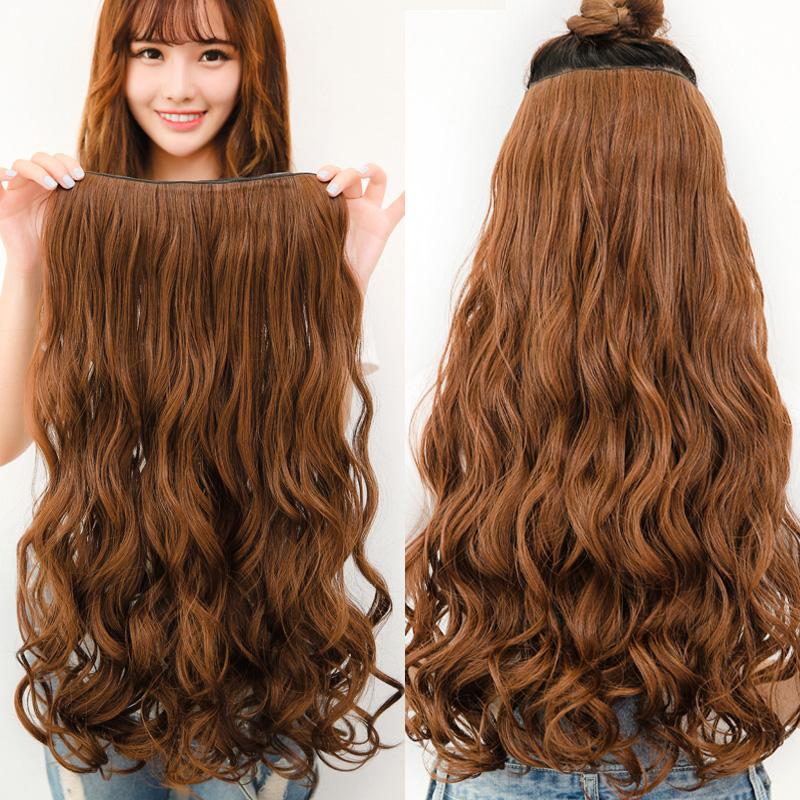 Длинные вьющиеся волосы парика кусок кусок большие волны в фигурные женские длинные вьющиеся волосы парик Парики волос