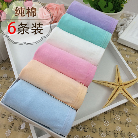 6 boxed sexy womens underwear pure cotton medium low waist cute small fresh candy color large briefs student girl