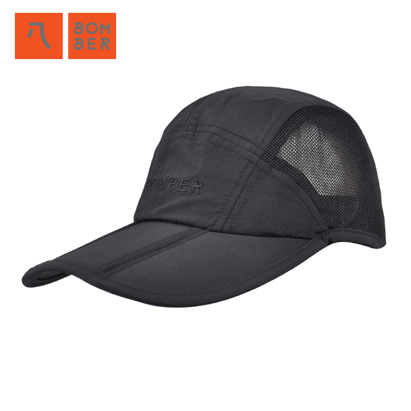 Bomber mens baseball cap summer outdoor sun hat folding sun hat sun protection duck tongue hat man