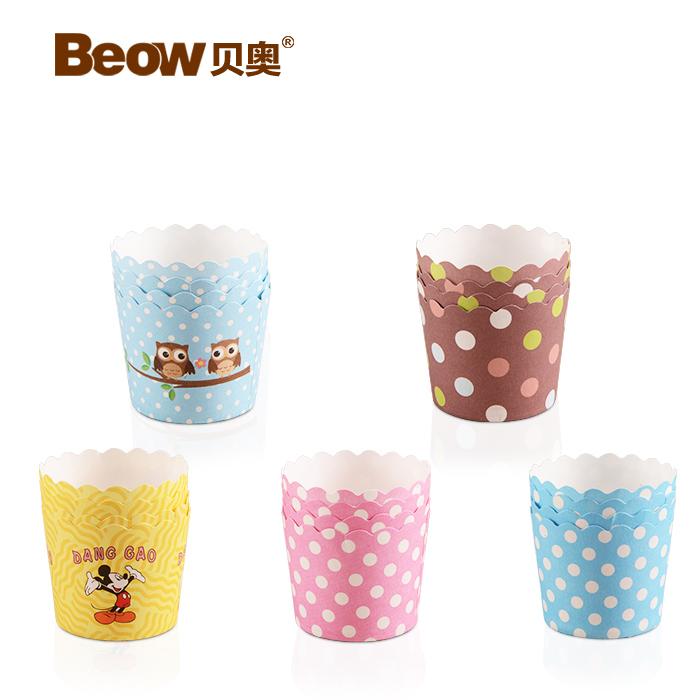 Пакет Беовульфа бумаги чашки сдобы торт чашки сдобы выпечки пресс-формы для бумаги колодки духового шкафа высокой температуры циркуляр 25