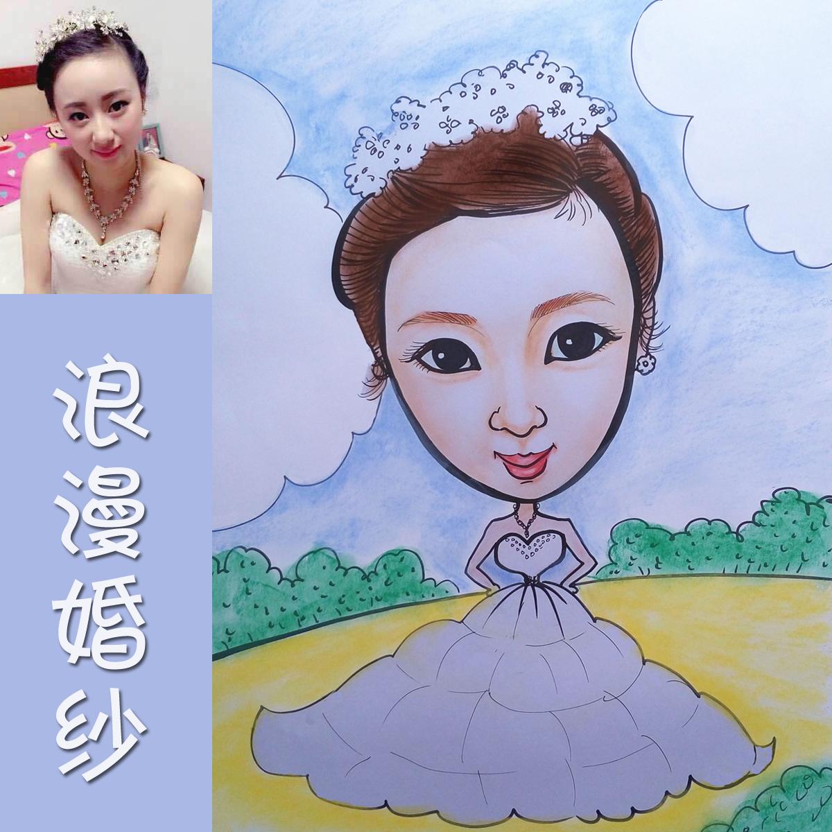 画漫画卡通Q版素描彩绘肖像画动漫设计定制手绘礼物礼品似颜绘