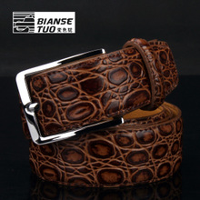 Belt male pin buckle Vintage belt Fashion han edition Leather quality goods leisure boom Men's pure leather belt