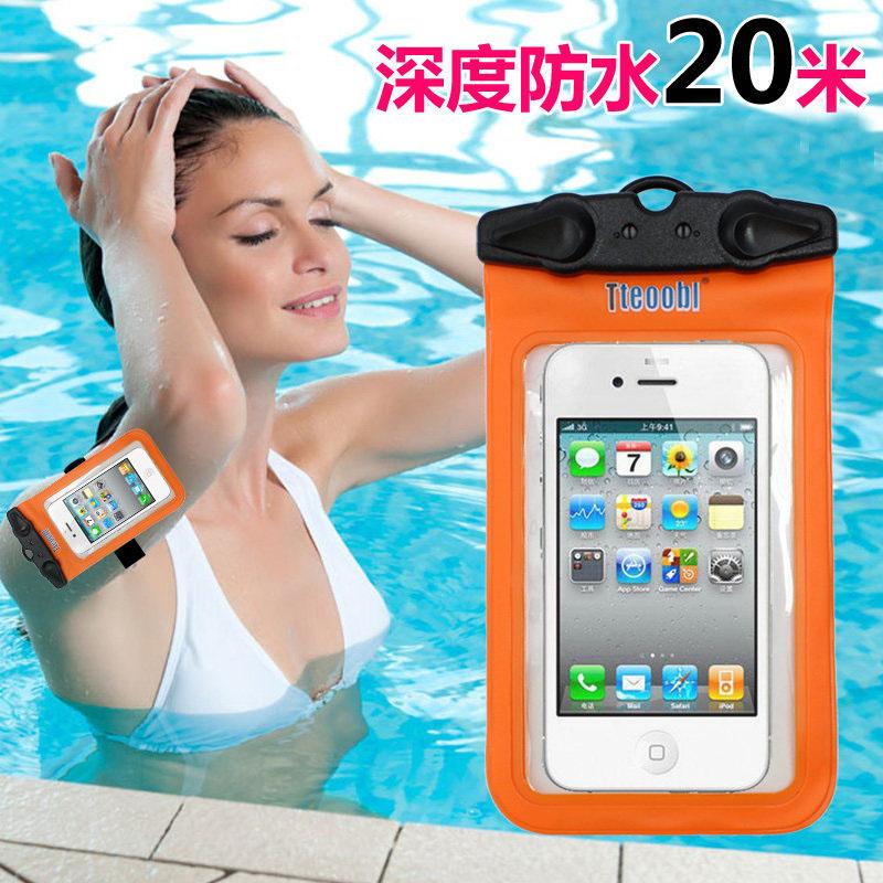 特比樂iPhone5s手機防水袋6plus蘋果4s小米3三星note3潛水套 遊泳