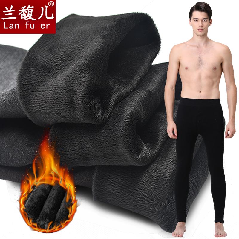 Мужской теплые брюки утолщённый с дополнительным слоем пуха зимний сезон плотно брюки брюки рейтузы один ношение осенние брюки мужчина волосы брюки