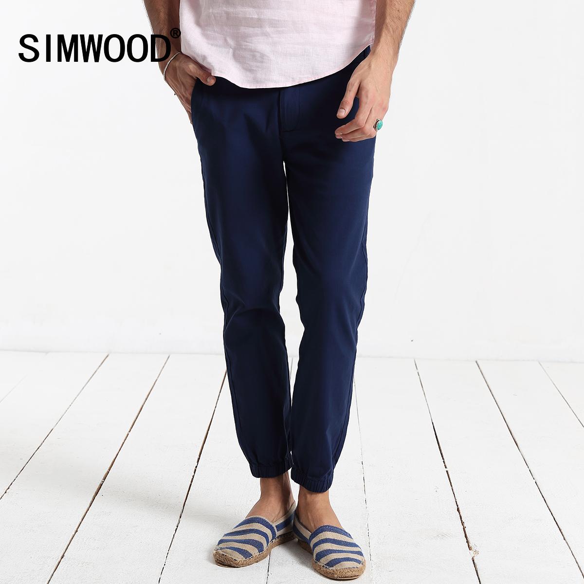 Simwood2016 летом новый мужской тонкий эластичный гарем брюки мужской сплошной цвет микро упругой талии ноги девять минут штаны