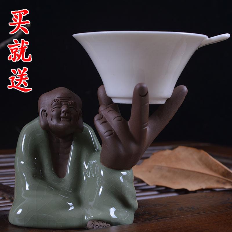 Новый бутик Исин фиолетовый песок чай чай аксессуары фильтр токо печи открытия чай сувениры украшения почты