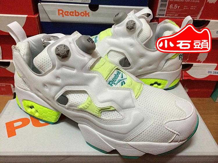 REEBOK INSTA PUMP FURY OG inflatable orange gray running shoes couple shoes  M42233. Loading zoom 587f1493e