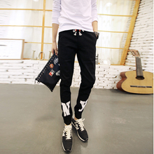 Wave was Japanese new men haroun pants fall and winter beam foot trousers cultivate one's morality men's trousers slacks trend
