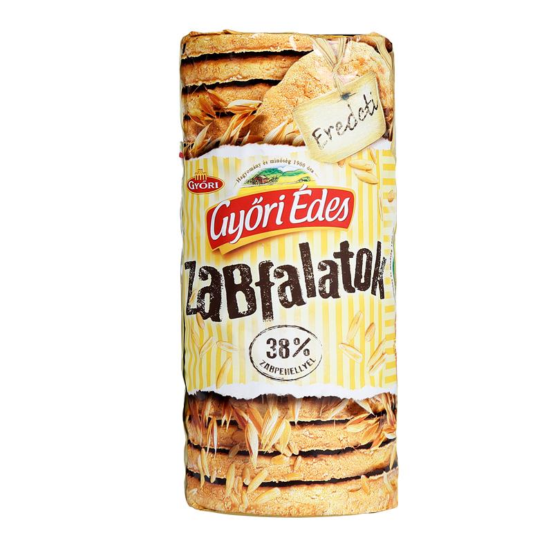 GYORI 匈牙利 美味健康全麥原味早餐餅幹燕麥蘋果味215g 244g
