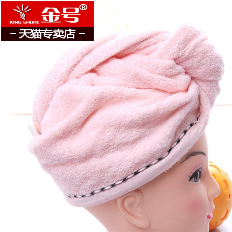 Золото ванны крышка утолщённый чисто хлопок сухие волосы, кэп абсорбент вытирать волосы быстросохнущие полотенце чалма полотенце хлопок абсорбент