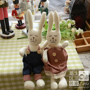Zakka разное товары континентальный корейский сельская местность страна ткань кукла любители заяц мифей ткань даже куклы выйти замуж подарок, цена 387 руб