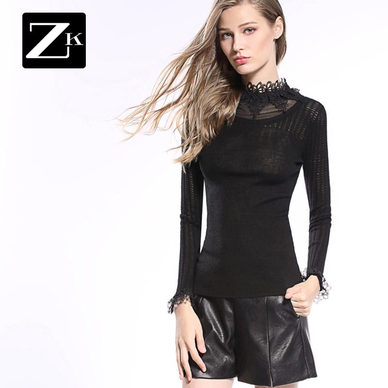ZK пирсинг хеджирование свитер женский осенний зима значительно тоньше поддержка свитер корейский шерстяной одежда свитер новый волна