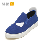 Shoebox shoe fall 2015 new fashion casual women's shoes are flat, shallow foot canvas the lazy man shoes