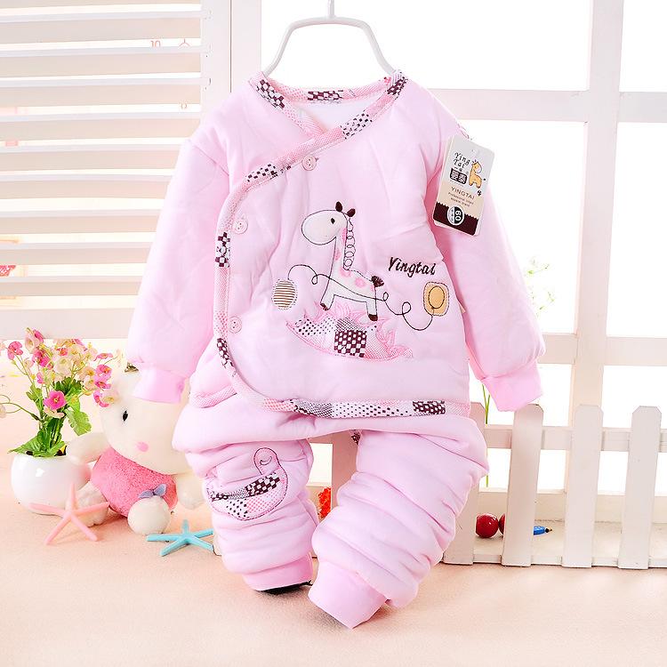 Должность нового младенческой ребенка пешеходных платье куртка костюм для хлопка пальто осень/зима сгущаться хлопчатобумажной одежды ребенка