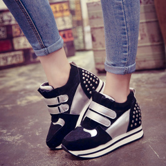 Hero Yang 2015 Korea fall sneakers in women's casual shoes with high shoes platform in thick-soled shoes wave