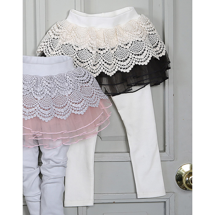 20% off stock ? Korean authentic childrens wear ? special price of spring and autumn Niki girls lace childrens skirt pants nk16101