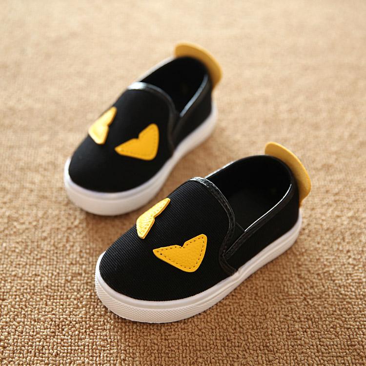 весной 2015 корейских детей Холст обувь Детская обувь для мальчиков и маленький монстр обувь воздуха плоское дно