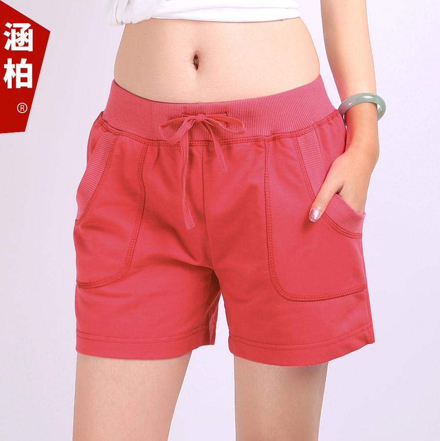 全棉 短褲女夏 外穿跑步褲子 寬鬆大碼短褲 褲 熱褲