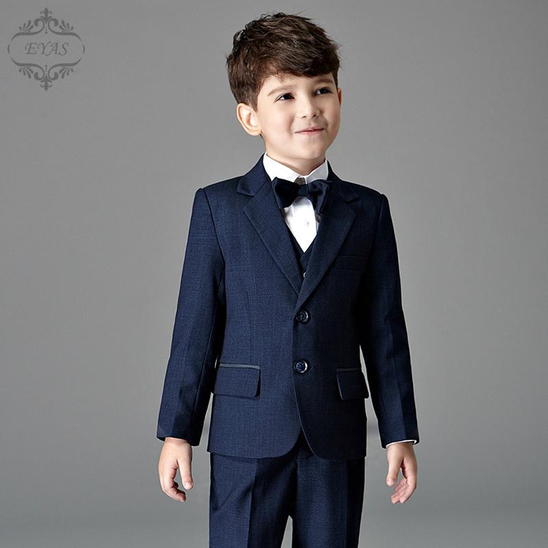 EYAS男童西装套装儿童小西服外套秋冬婚礼花童礼服钢琴演出服英伦