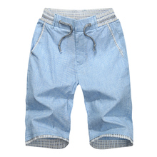 Summer grid 7 minutes of pants men straight canister cotton han edition tide shorts youth men leisure pants pants, 7 minutes of pants