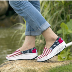 Microphone clicking fall 2015 new wave Korean canvas women's low cut stripe one foot lazy shoes shoes women