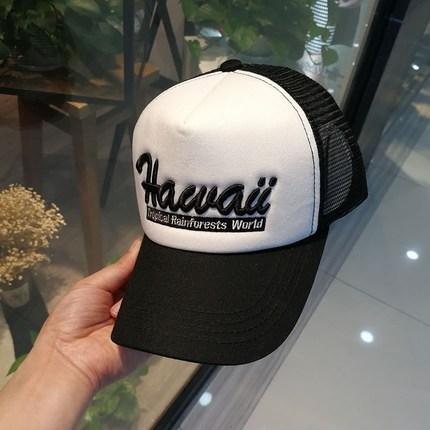 棒球帽男女夏季网帽白色货车帽户外防晒遮阳帽出游度假韩版鸭舌帽