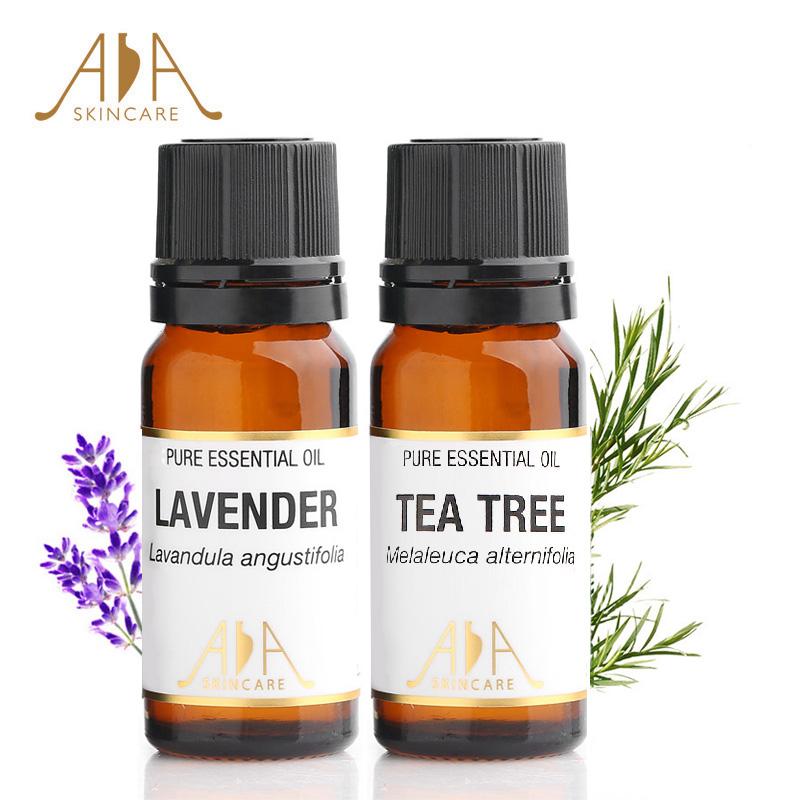 Великобритания AA чистый ароматерапия кожа масло установите лаванда чайное дерево масло один квадрат чистый масло сочетание