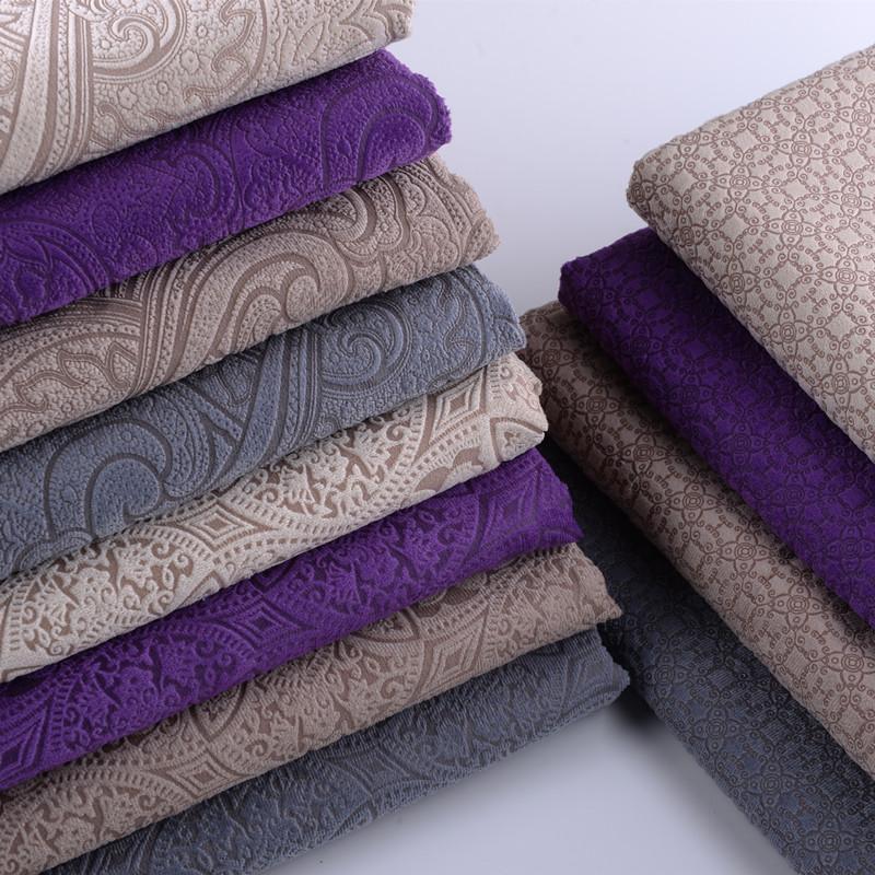 ソファ生地に厚みのある立体押し花欧風ソファカバー生地の綿布クッションカバーの工程布