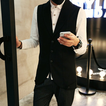 2015 new men ma3 jia3 tide in the men's wear autumn clothes coat ma3 jia3 stylist tank top male han edition long suit