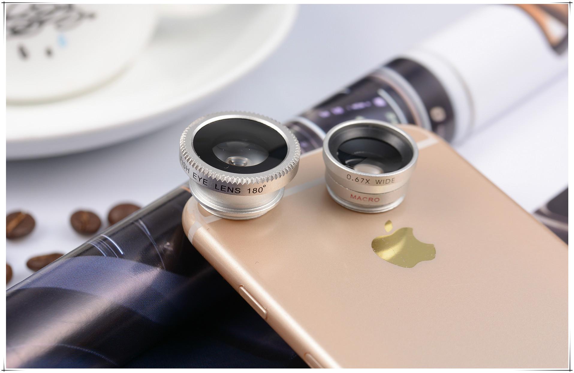 特效手机镜头广角鱼眼微距三合一外置自拍神器多功能通用美颜拍照