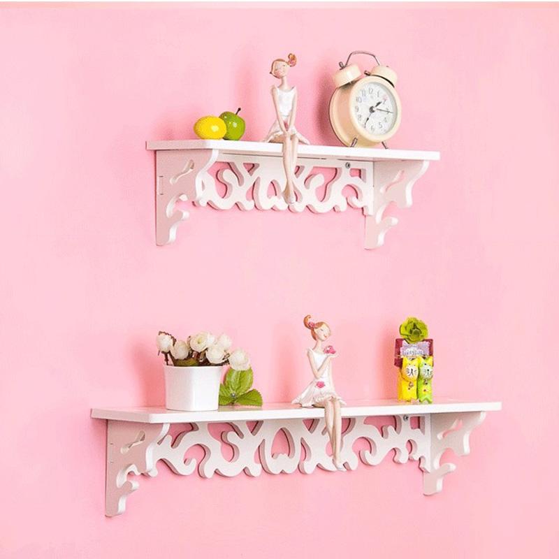 欧锋 创意雕花 一层隔板置物架 墙上壁架收纳架 照片墙配件