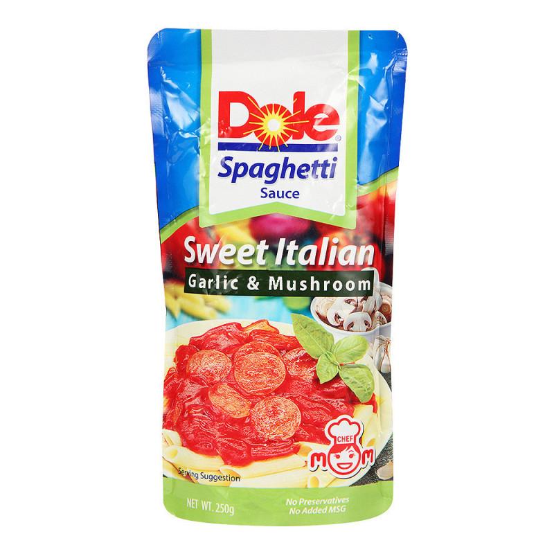 東南亞 Dole都樂蒜蓉蘑菇意大利麵醬番茄醬250g