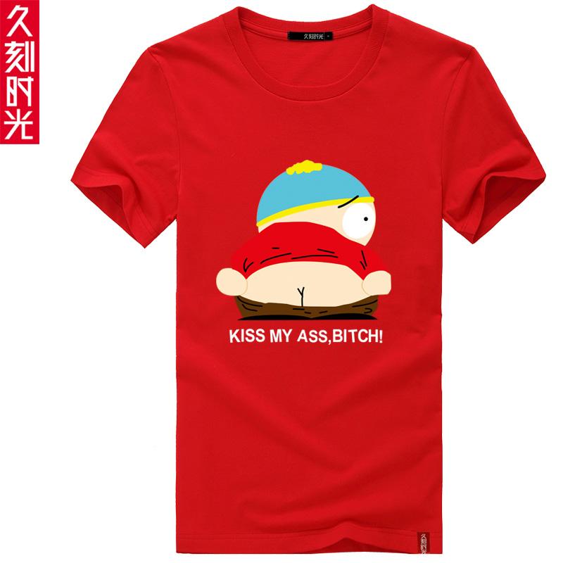 Долгое время мультфильм Южный парк South Park мужчин и женщин плюс размер хлопка короткий рукав футболки