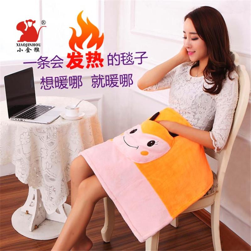 Оскар обезьяна съемный электрическое отопление теплый одеяло kneepad одеяло отопление подушка офис комната специальный электрический термоодеяло зимний сохраняющий тепло