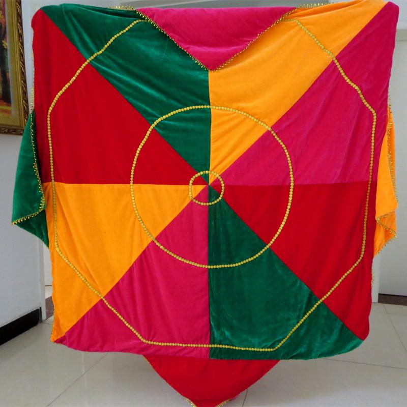 两米特大三层加厚舞蹈手绢专业技巧二人转手绢跳舞手帕八角巾