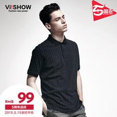 Viishow2015 Wavelet Paul summer styles POLO shirts men's short sleeve slim fit Polo business t