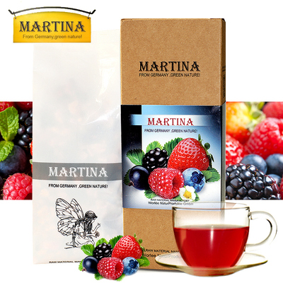 Dr Tina German imports rum wine scented tea Germany's fruit