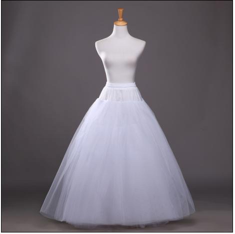 婚纱礼服无骨齐地裙撑无钢圈无痕无束缚蓬蓬裙硬纱无骨4.6.8层纱